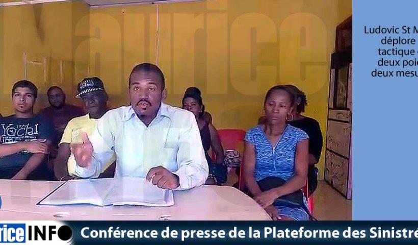 Conférence de presse de la Plateforme des Sinistrés