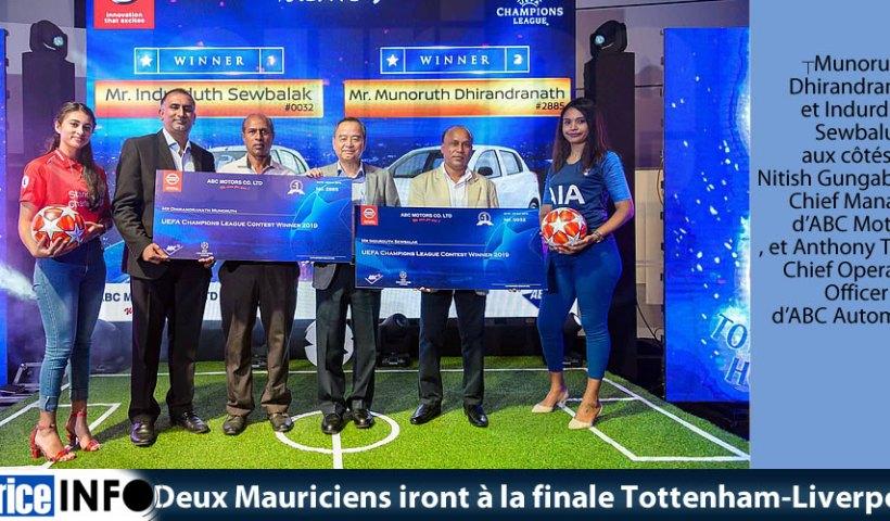 Deux Mauriciens iront à la finale Tottenham-Liverpool