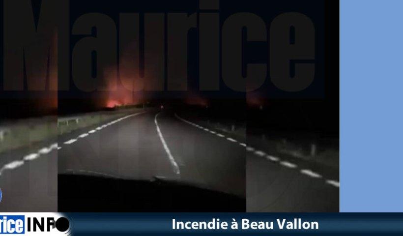 Incendie à Beau Vallon