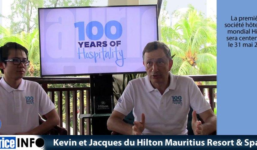 Kevin et Jacques du Hilton Mauritius Resort & Spa
