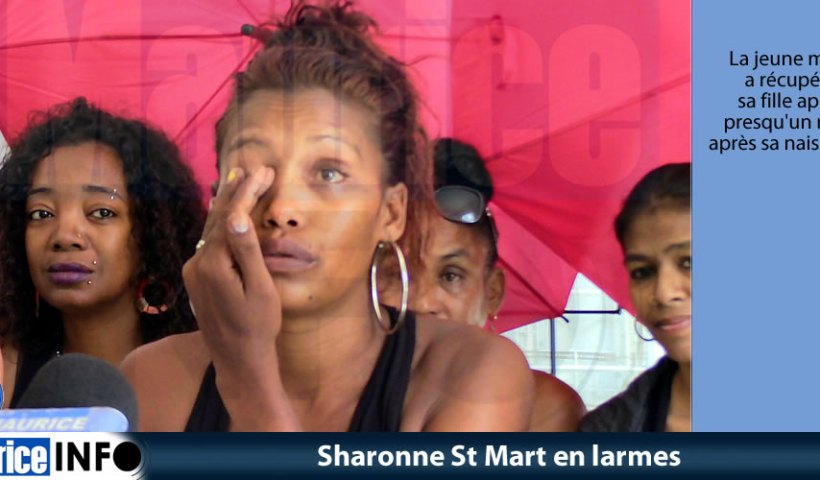 Sharonne St Mart en larmes