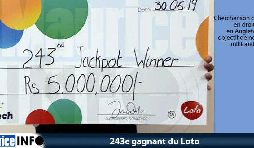 243e gagnant du Loto