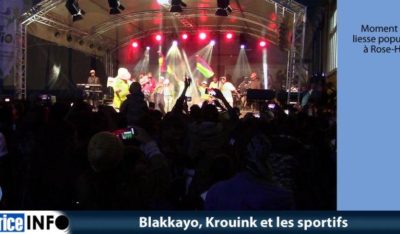 Blakkayo, Krouink et les sportifs