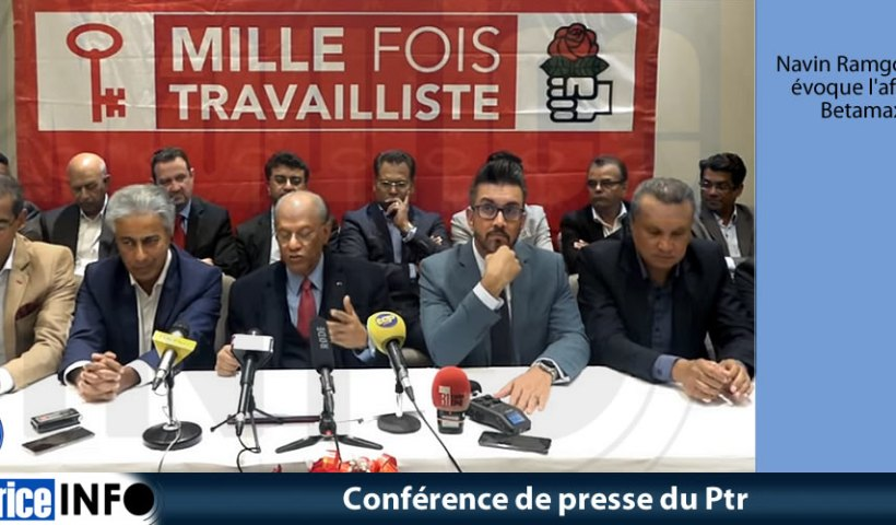 Conférence de presse du Ptr du 7 Juin 2019