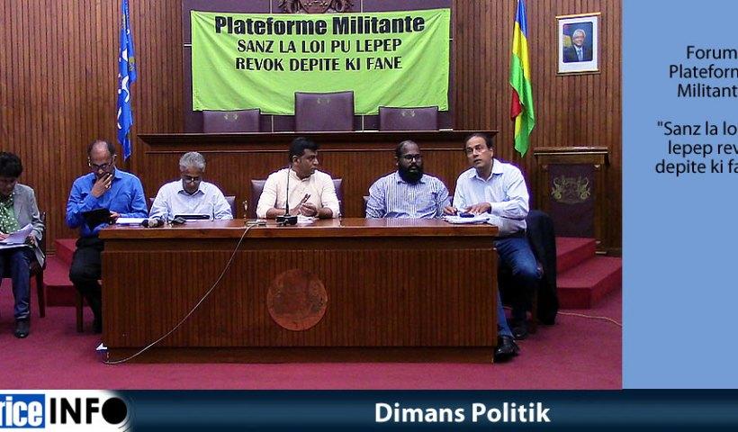 Dimans Politik Forum Plateforme Militante