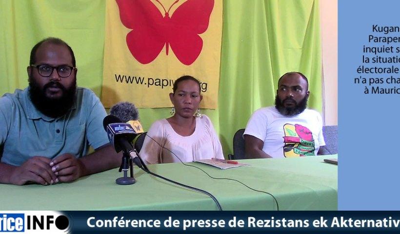 Conférence de presse de Rezistans ek Akternativ du 27 Juillet 2019