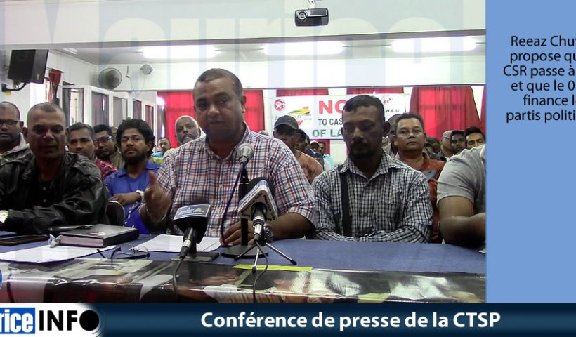 Conférence de presse de la CTSP du 11 Juillet 2019