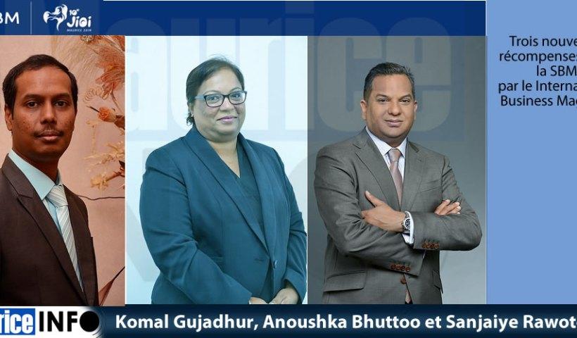 Komal Gujadhur, Anoushka Bhuttoo et Sanjaiye Rawoteea