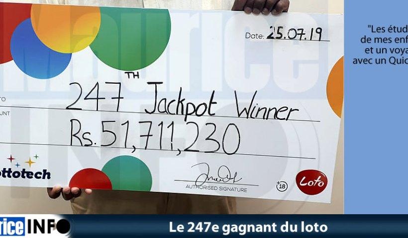 Le 247e gagnant du loto