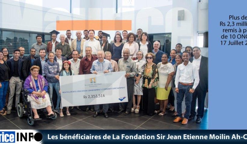 Les bénéficiaires de La Fondation Sir Jean Etienne Moilin Ah-Chuen