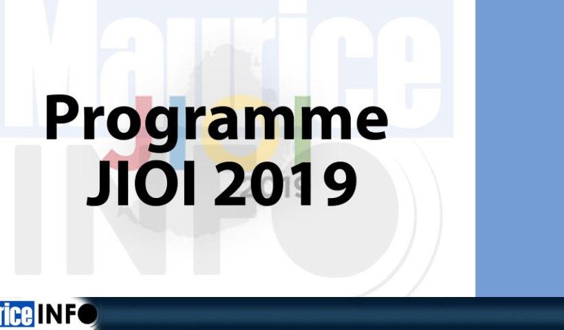 Programme JIOI 2019