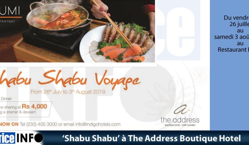 'Shabu Shabu' à The Address Boutique Hotel