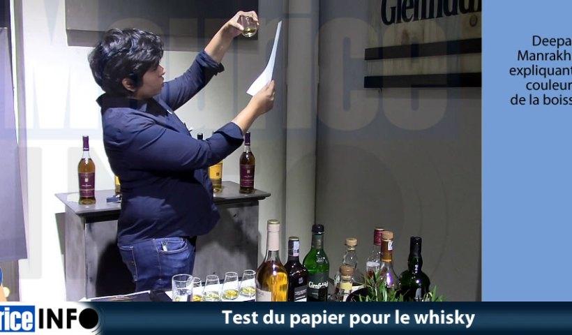 Test du papier pour le whisky