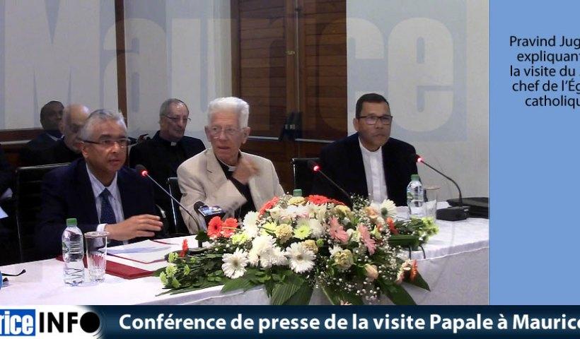 Conférence de presse de la visite Papale à Maurice