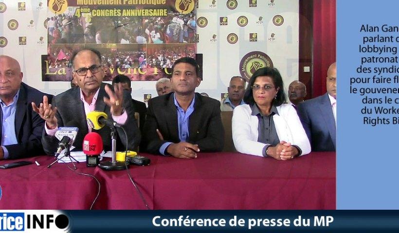 Conférence de presse du MP du 3 Août 2019