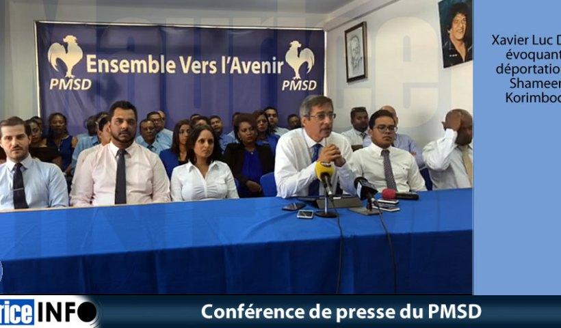 Conférence de presse du PMSD du 3 Août 2019