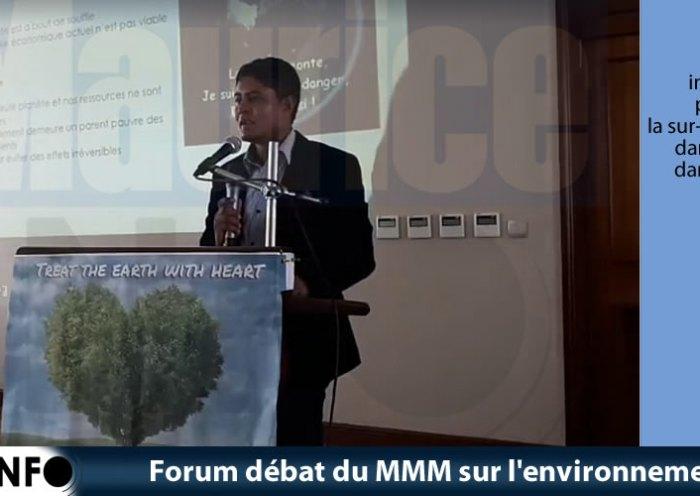 Forum débat du MMM sur l'environnement