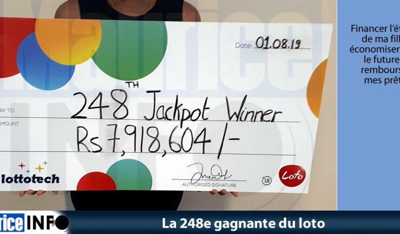 La 248e gagnante du loto