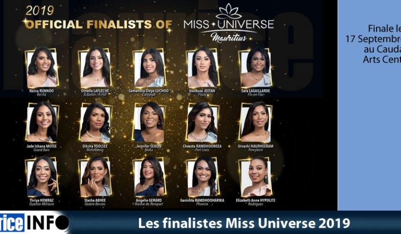 Les finalistes Miss Universe 2019