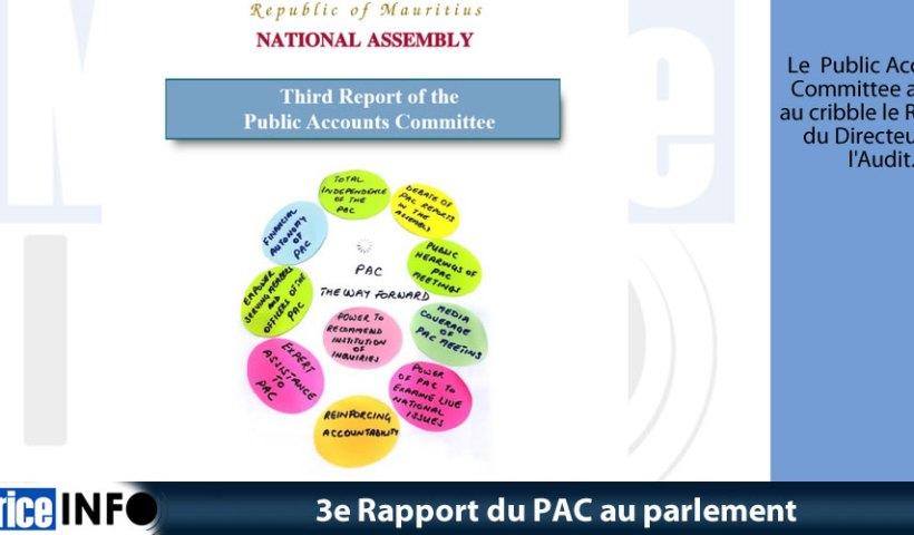 3e Rapport du PAC au parlement