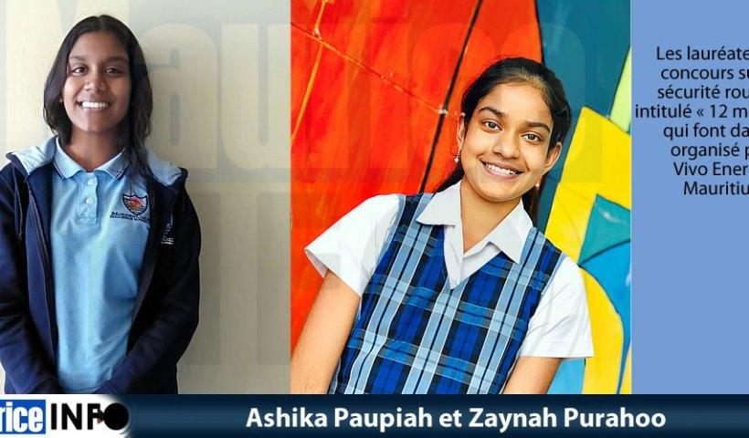Ashika Paupiah et Zaynah Purahoo