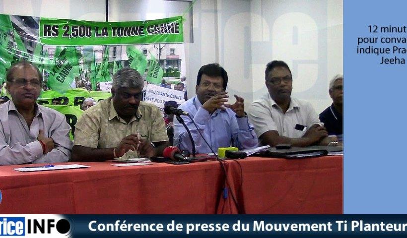Conférence de presse du Mouvement Ti Planteur du 18 Septembre 2019