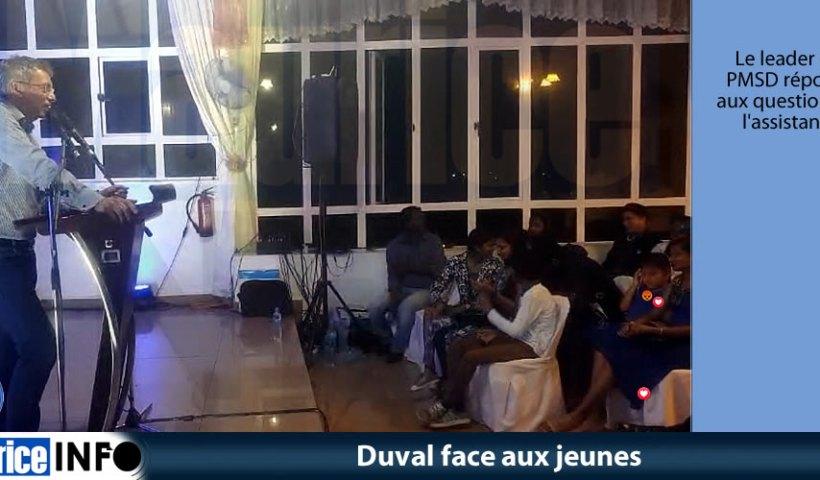 Duval face aux jeunes