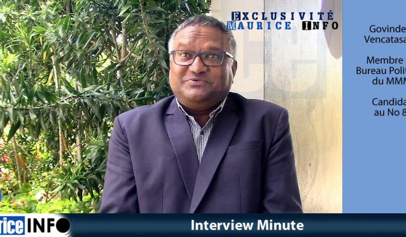 Interview Minute de Govinden Vencatasami