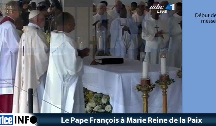 Le Pape Francois à Marie Reine de la Paix © Images MBC