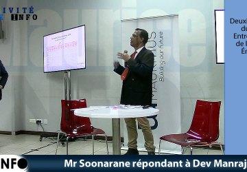Mr Soonarane répondant à Dev Manraj