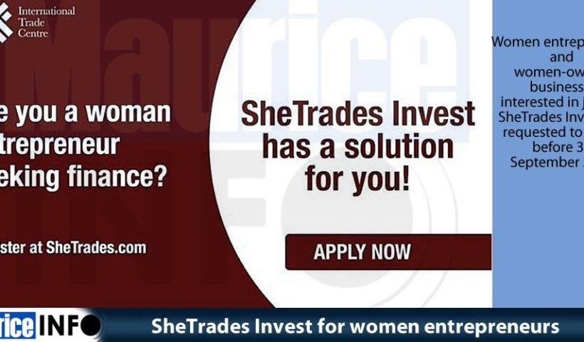 SheTrades Invest for women entrepreneurs