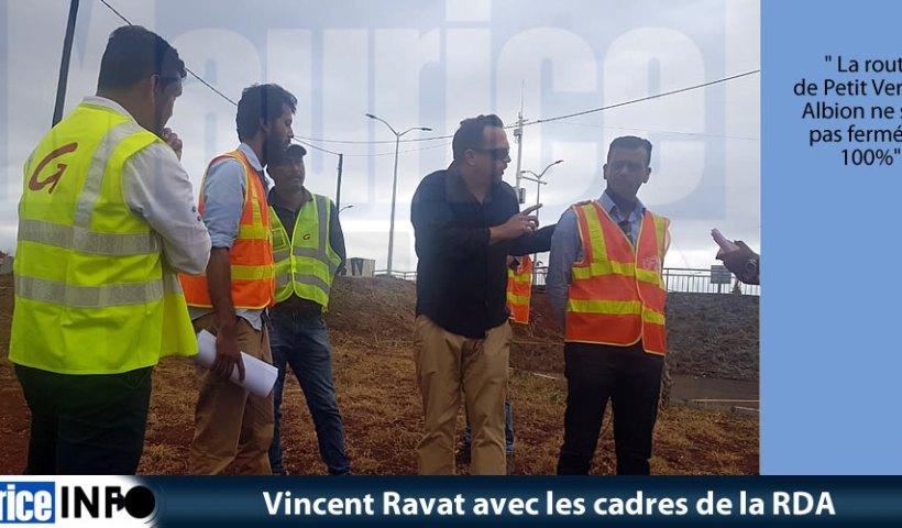 Vincent Ravat avec les cadres de la RDA