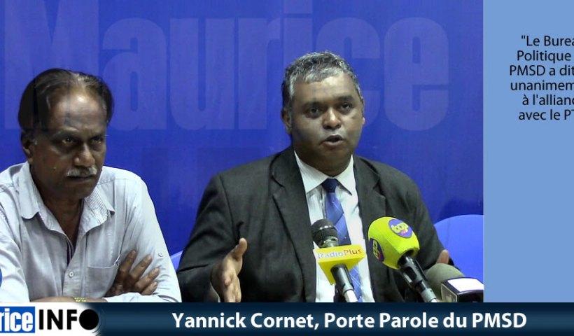 Yannick Cornet, Porte Parole du PMSD