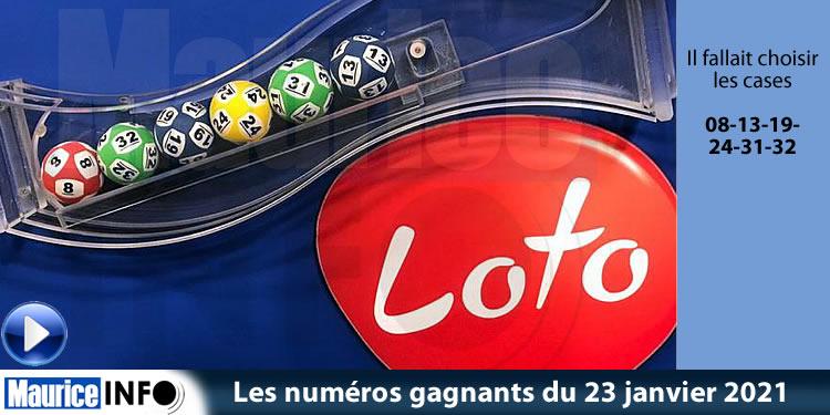 Les numéros gagnants du tirage du loto du 23 janvier 2021