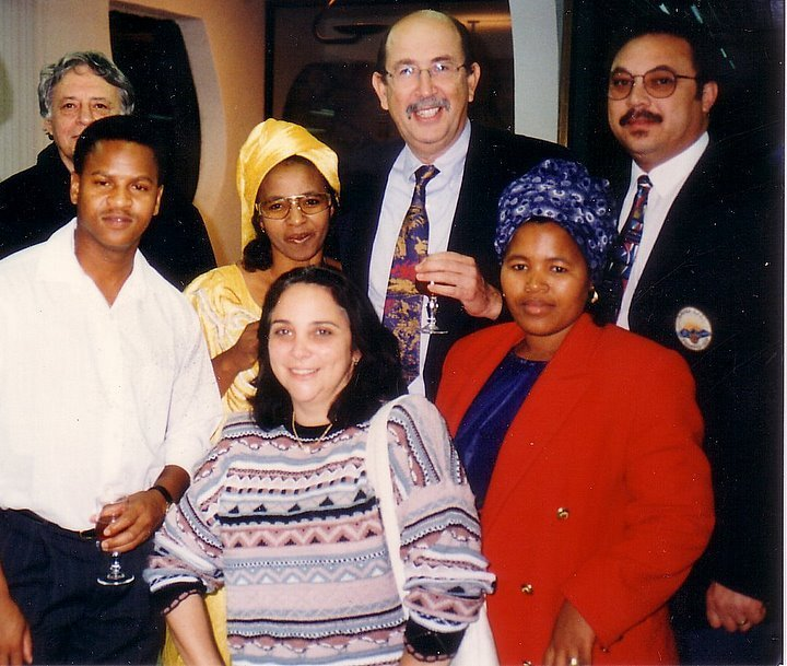 The tall man third from left is Prof Zelnicker, originator of the series of training courses