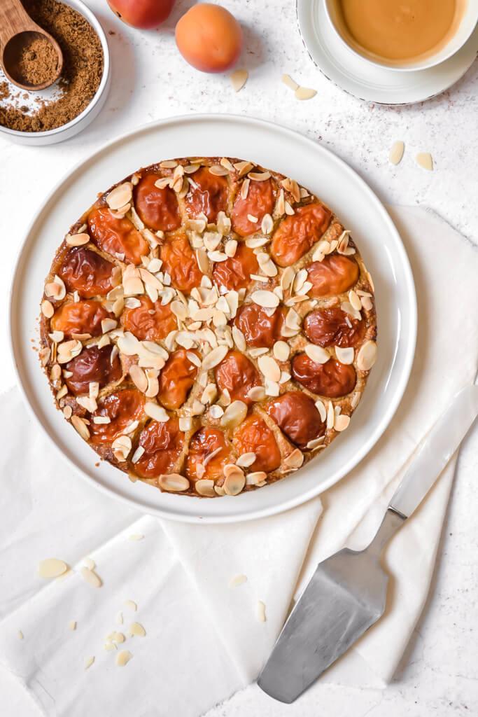 Gâteau d'été amande abricot