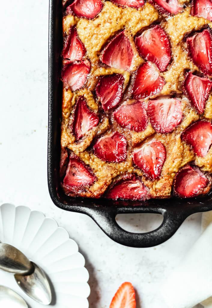 Gâteau Weight Watchers aux fraises facile
