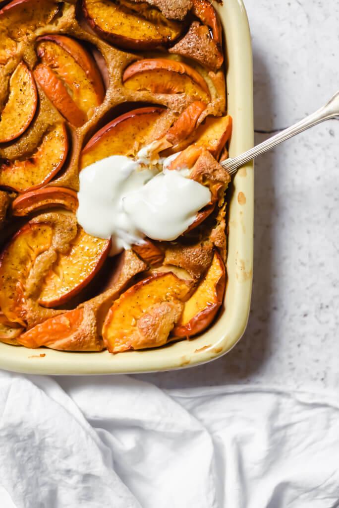Gâteau Weight Watchers nectarine abricot