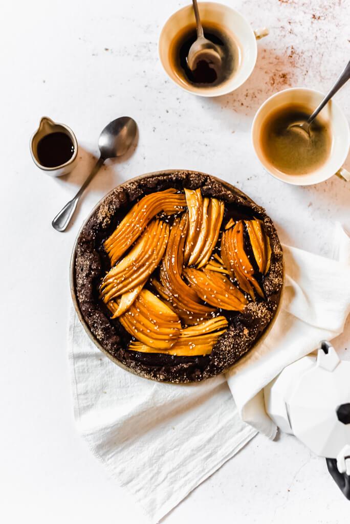 Tarte fruit chocolat