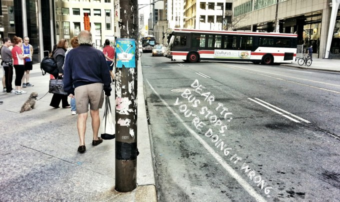 Dear TTC: Bus Stops. You Are Doing It Wrong