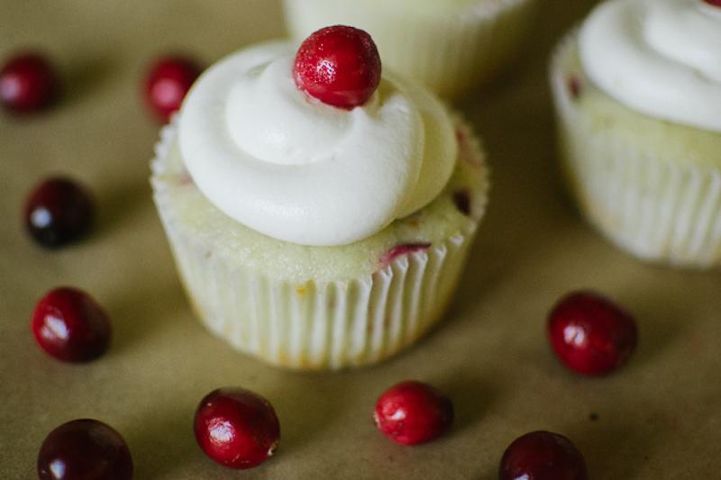 cranberry cupcakes