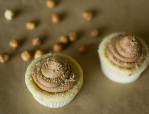 hazelnut cake or cupcakes