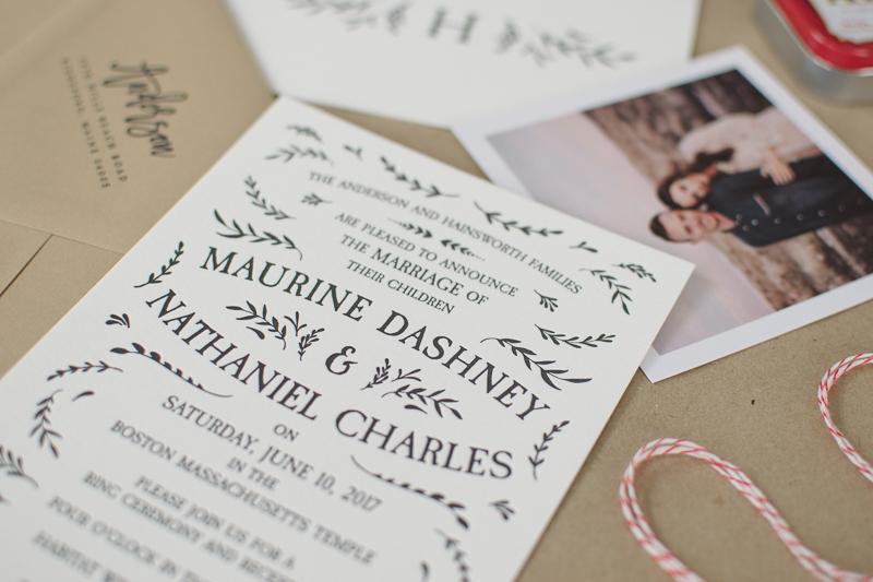 diy letterpress wedding invitations