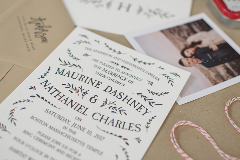 My diy letterpress wedding invitations maurine dashney diy letterpress wedding invitations solutioingenieria Image collections