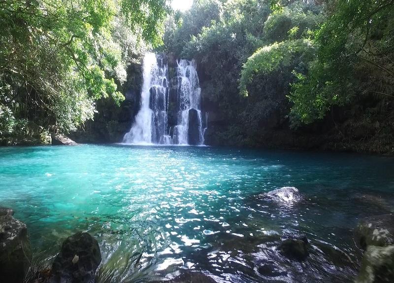 Eau Bleu waterfall in Mauritius