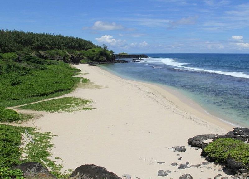 Gris gris beach in Mauritius