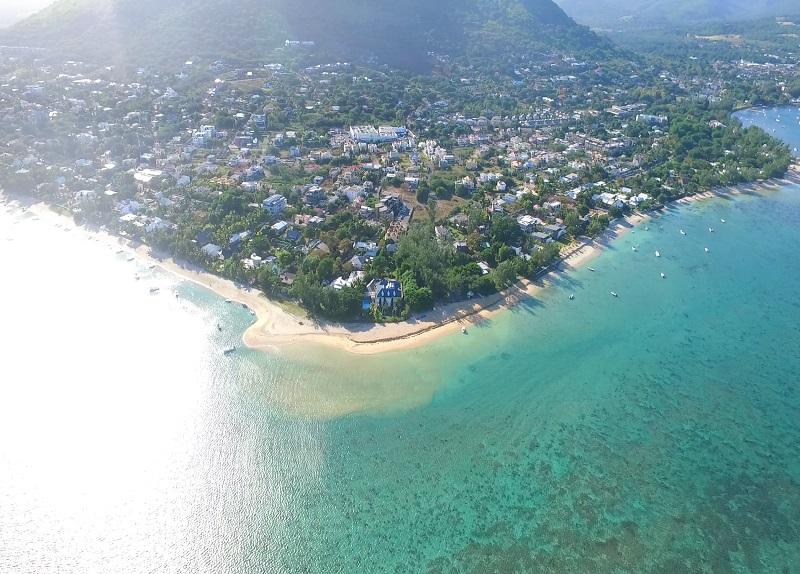 La preneuse beach in Mauritius