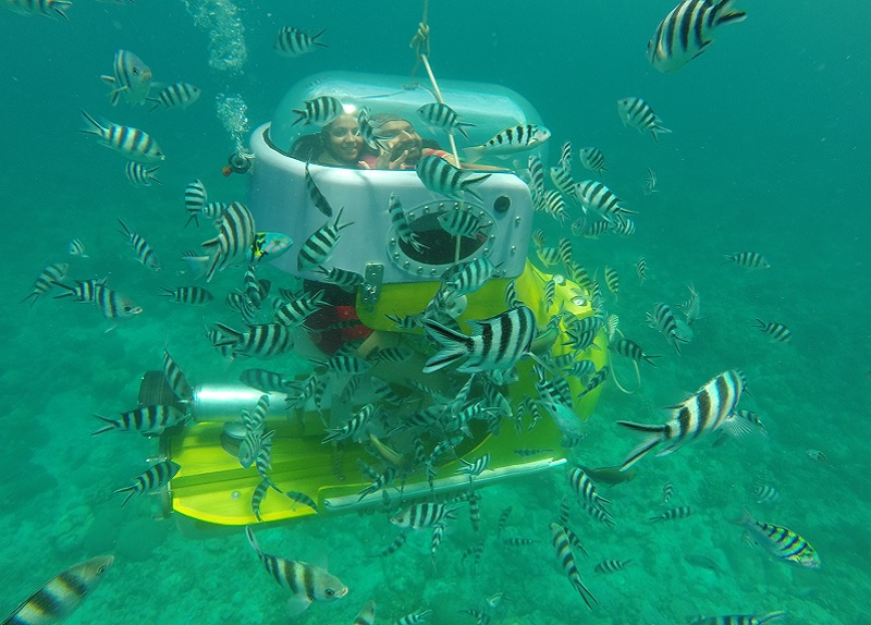 Underwater scooter in Mauritius