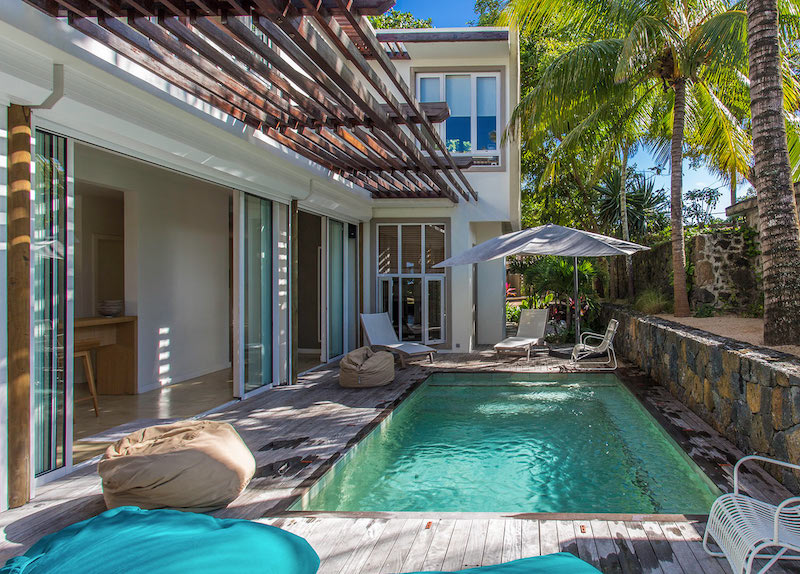 Villa Tourteaux in Mauritius view of the pool