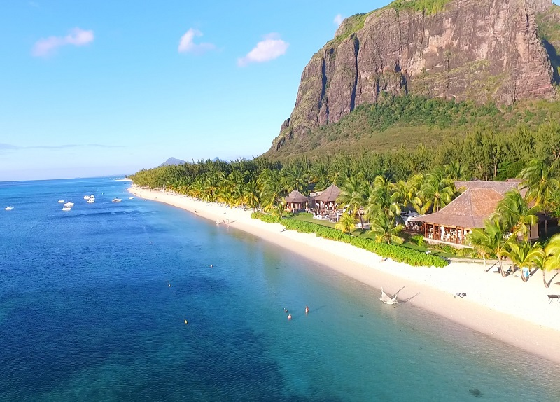 Le Morne Beach. Best hotel in Mauritius. Lux Le Morne